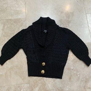 Bebe black sweater. mid forearm sleeve length.